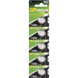 GP Batérie LITHIUM gombíkové CR2032 5ks 3V 210MAH 1042203215