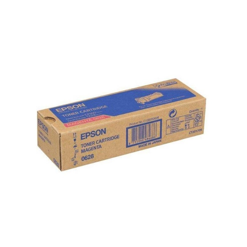 Epson originál toner C13S050628, magenta, 2500str., Epson Aculaser C2900N