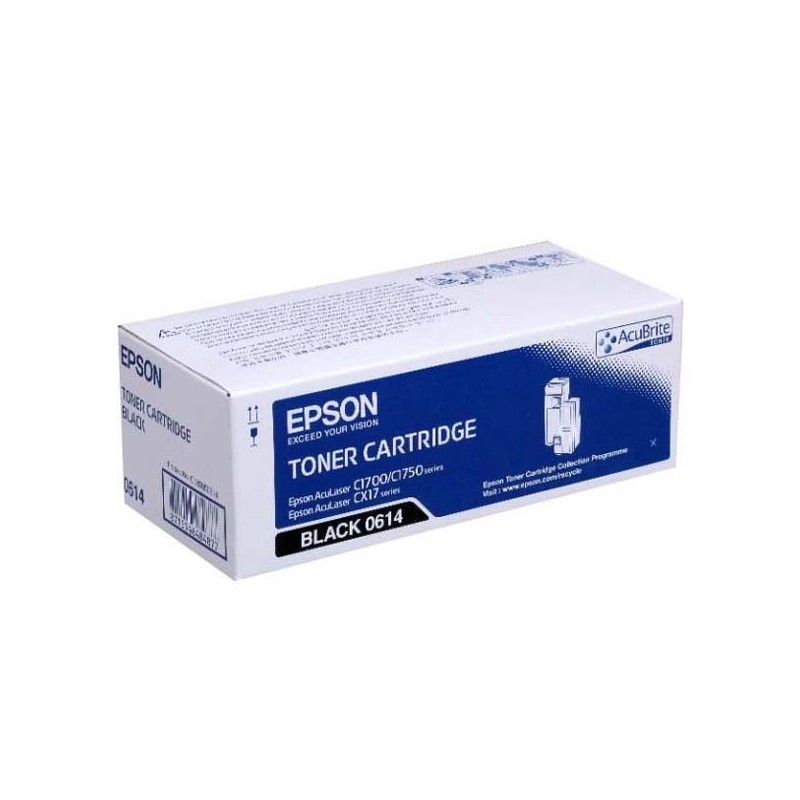 Epson originál toner C13S050614, black, 2000str., high capacity, Epson Aculaser C1700