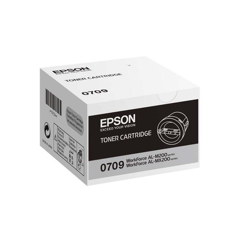 Epson originál toner C13S050709, black, 2500str., Epson AcuLaser M200, MX200