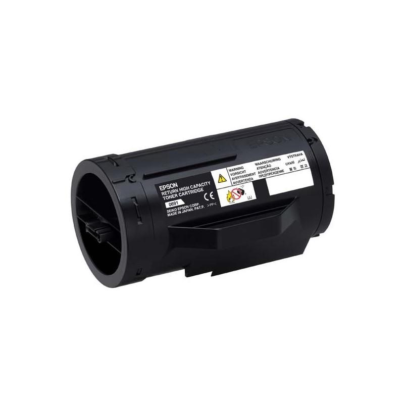 Epson originál toner C13S050691, black, 10000str., return, high capacity, Epson Aculaser M300D, M300DN