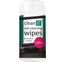 CLEAN IT čistiace obrúsky mokré na plasty 100ks CL-142