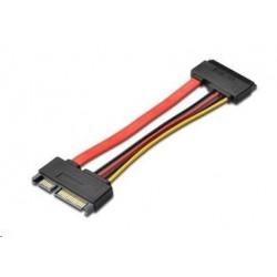 PREMIUMCORD Kabel SATA  napájení prodlužovací k HDD, 15cm kfsa-22