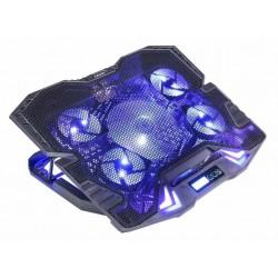 EVOLVEO Ania 5, chladicí podstavec pro notebook, modré podsvícení...
