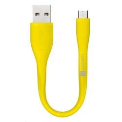 CONNECT IT Wirez Micro USB - USB pro power banky, žlutý, 13 cm CI-1172