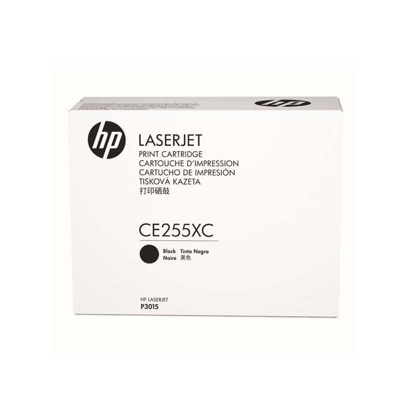 HP originál toner CE255XC, black, 12500str., 55X, HP LaserJet P3015, kontraktový produkt