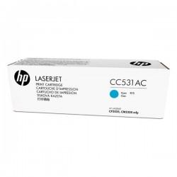 HP originál toner CC531AC, cyan, 2800str., 304A, HP Color LaserJet CP2025, CM2320, kontraktový produkt