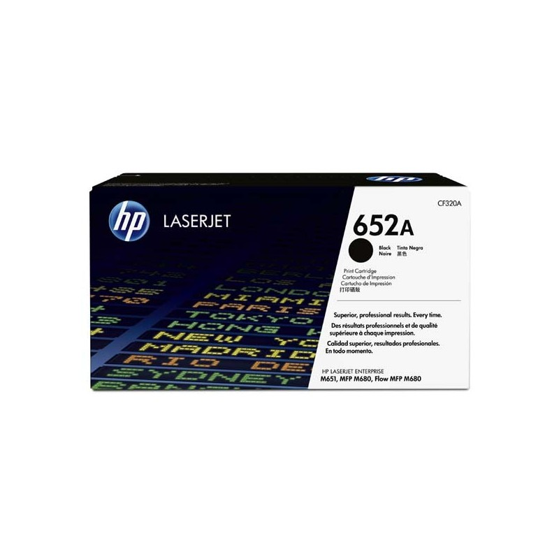 HP originál toner CF320A, black, 11 500str., 652A, HP Color LaserJet Enterprise Flow M680z, M651dn, M651