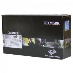 Lexmark originál toner C5220KS, black, 4000str., return, Lexmark C522n, C524