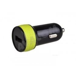 Nabíjecí adaptér do auta s výstupem USB 5V/1A, černo-zelená barva...