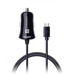 CONNECT IT InCarz nabíječka do auta 1x micro USB 2,1A, 1,5m rovný...