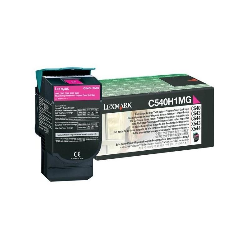 Lexmark originál toner C540H1MG, magenta, 2000str., return, high capacity, Lexmark C540, X543, X544, X543, X544