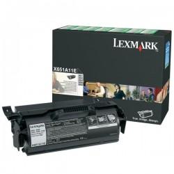 Lexmark originál toner X651A11E, black, 7000str., return, Lexmark X651, X652, X654, X656, X658