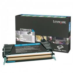 Lexmark originál toner C736H1CG, cyan, 10000str., return, high capacity, Lexmark C736, X736, X738