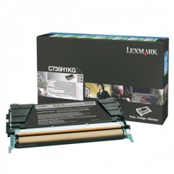 Lexmark originál toner C736H1KG, black, 12000str., return, high capacity, Lexmark C736, X736, X738