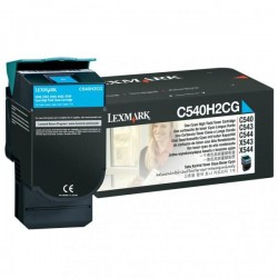 Lexmark originál toner C540H2CG, cyan, 2000str., Lexmark C540, C543, C544