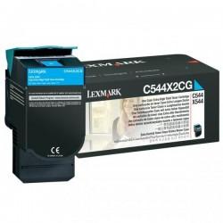 Lexmark originál toner C544X2CG, cyan, 4000str., Lexmark C544, X544, C546, X546