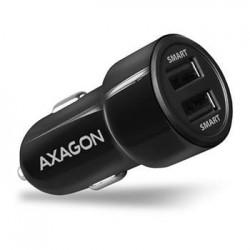 AXAGON PWC-5V5, SMART nabíječka do auta, 2x port 5V-2.4A  2.4A, 24W