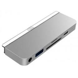 HyperDrive 6-in-1 USB-C Hub pro iPad Pro - Silver HY-HD319-SILVER