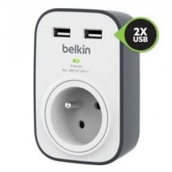Belkin přepěťová ochrana BSV103 - 1 zásuvka, 2xUSB/2.4A BSV103ca