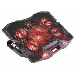EVOLVEO Ania 5R, chladicí podstavec pro notebook, červené...