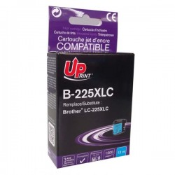 UPrint kompatibil ink s LC-225XLC, LC-225XLC, cyan, 1200str., 13ml, B-225XLC, pre Brother MFC-J4420DW, MFC-J4620DW