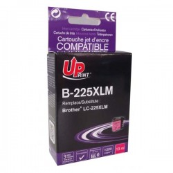 UPrint kompatibil ink s LC-225XLM, LC-225XLM, magenta, 1200str., 13ml, B-225XLM, pre Brother MFC-J4420DW, MFC-J4620DW