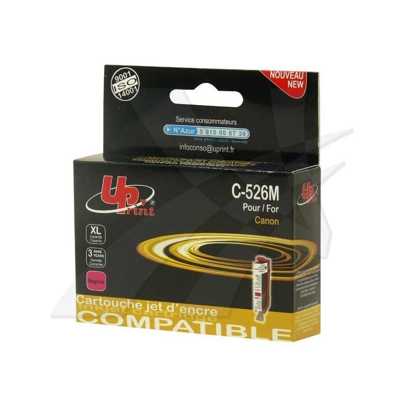 UPrint kompatibil ink s CLI526M, magenta, 10ml, C-526M, pre Canon Pixma MG5150, MG5250, MG6150, MG8150, s čipom