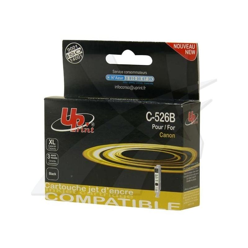 UPrint kompatibil ink s CLI526BK, black, 10ml, C-526B, pre Canon Pixma MG5150, MG5250, MG6150, MG8150, s čipom