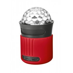 TRUST Dixxo Go Wireless Bluetooth Speaker with party lights - red...