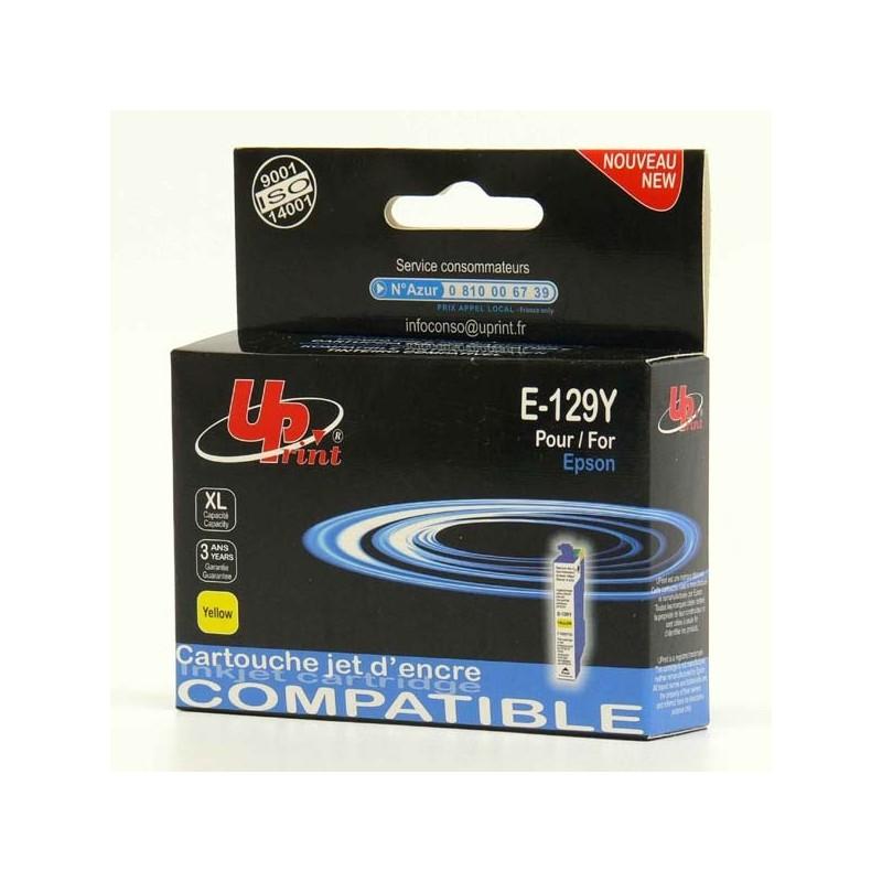 UPrint kompatibil ink s C13T12944010, T1294, yellow, 10ml, E-129Y, pre Epson Stylus SX420W, 425W, Stylus Office BX305F, 320FW