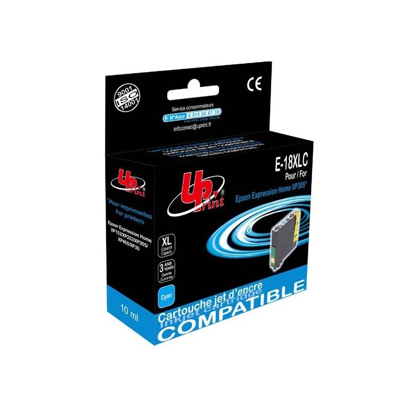 UPrint kompatibil ink s C13T18124010, 18XL, cyan, 10ml, E-18XLC, pre Epson Expression Home XP-102, XP-402, XP-405, XP-302