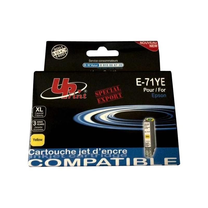 UPrint kompatibil ink s C13T07144021, yellow, 11ml, E-71Y, pre Epson D78, DX4000, DX4050, DX5000, DX5050, DX6000, DX605