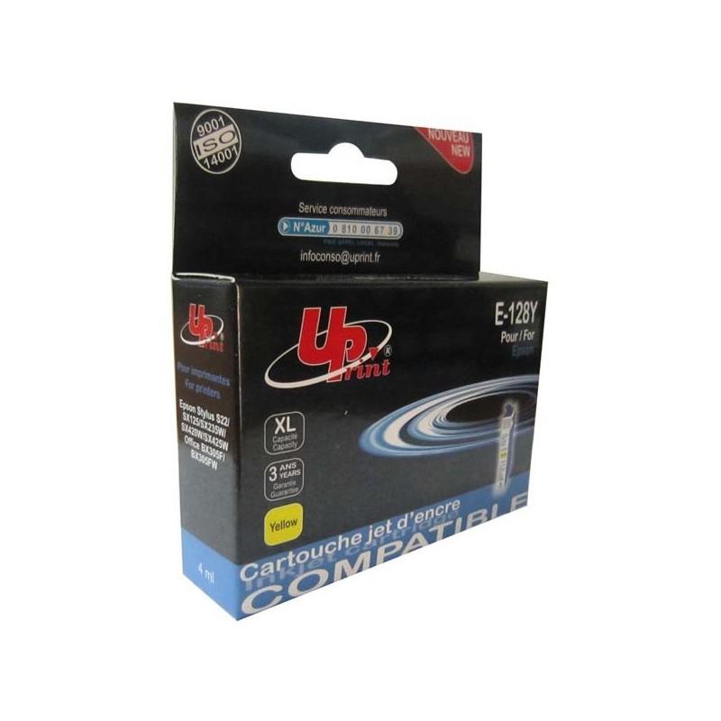 UPrint kompatibil ink s C13T12844011, yellow, 11.5ml, E-128Y, pre Epson Stylus S22, SX125, 420W, 425W, Stylus Office BX305