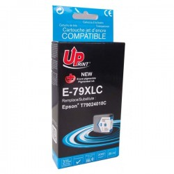 UPrint kompatibil ink s C13T79024010, 79XL, XL, cyan, 2000str., 25ml, E-79XLC, 1ks, pre Epson WorkForce Pro WF-5620D