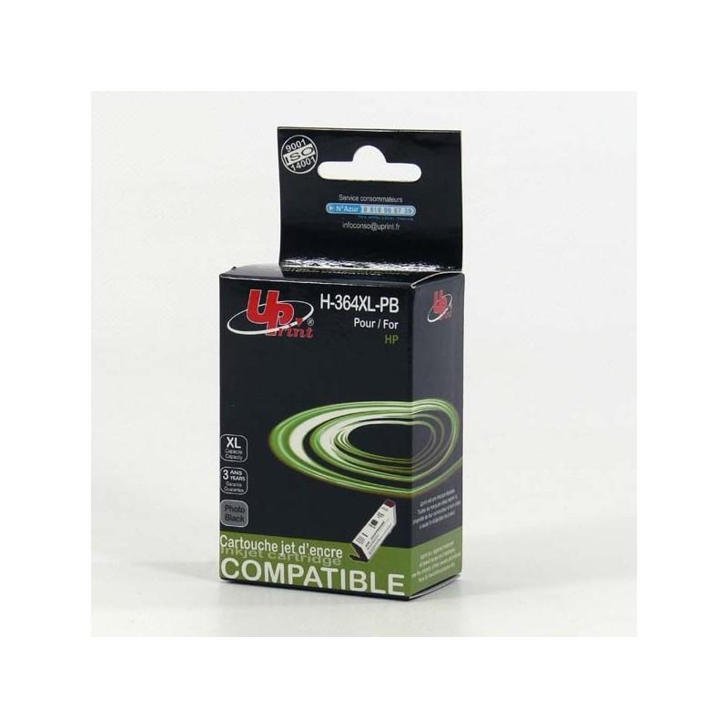 UPrint kompatibil ink s CB317EE, No.364, photo black, 12ml, H-364XL-PB, pre HP Photosmart B8550, C5380, D5460