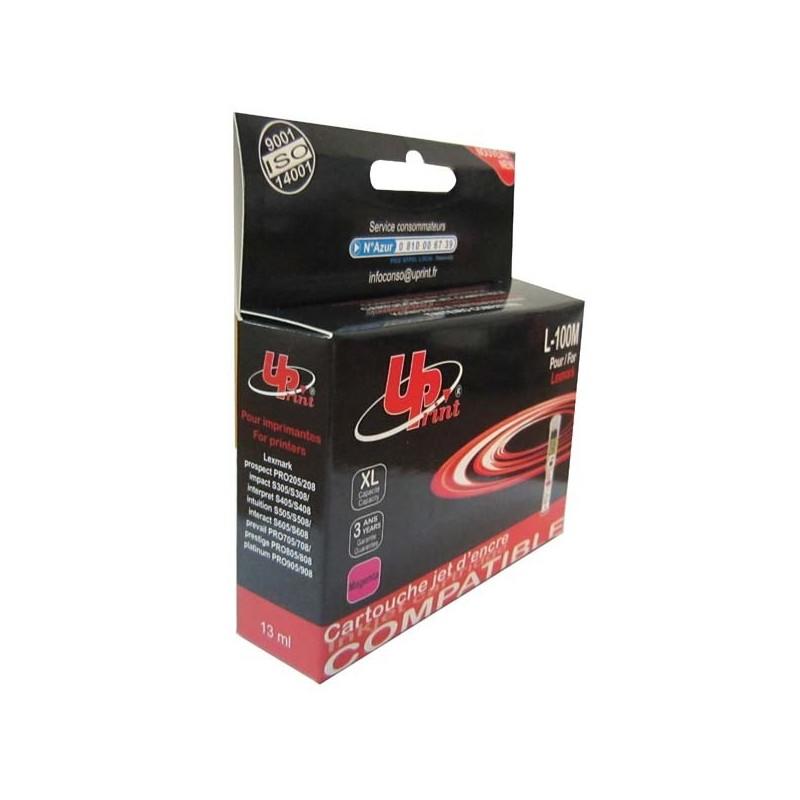 UPrint kompatibil ink s 14N1070E, L-100XLM, magenta, 600str., 13ml, pre Lexmark S305, 405, 505, 605, PRO205, 705, 805, 905
