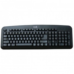 LOGO Klávesnica Standard, klasická, čierna, drôtová (USB), CZ/SK 18294