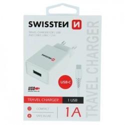 SWISSTEN SÍŤOVÝ ADAPTÉR SMART IC 1x USB 1A POWER + DATOVÝ KABEL USB...