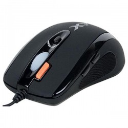 A4tech Myš X-710BH, optická, 7tl., 1 koliesko, drôtová (USB), čierna, 2000DPI, herná X-710BK
