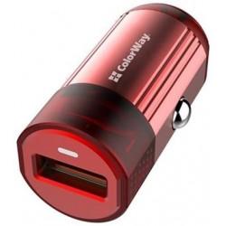 COLORWAY 1x USB nabíječka do auta 18W CW-CHA012Q-RD