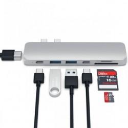 SATECHI Thunderbolt 3 adaptér HUB Sil ST-CMBPS