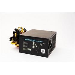 Zdroj 350W 1stCOOL WHITE STORM 350, účinnosť 85+, 12cm ventilátor,...