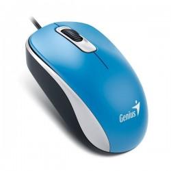 Genius Myš DX-120, optická, 3tl., 1 koliesko, drôtová (USB), modrá, 1200DPI, štandard, univerzál 31010105108