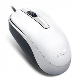 Genius Myš DX-120, optická, 3tl., 1 koliesko, drôtová (USB), biela, 1200DPI, štandard, univerzál 31010105107