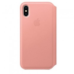 Apple iPhone X Leather Folio - Soft Pink MRGF2ZM/A