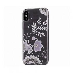 Devia kryt Crystal Bloosom Case pre iPhone X/XS - Silver 6938595305610