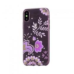 Devia kryt Crystal Bloosom Case pre iPhone X/XS - Rose Gold...