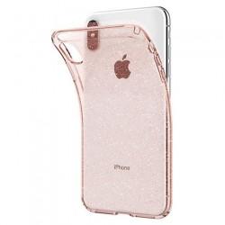 Spigen kryt Liquid Crystal Glitter pre iPhone XS Max - Rose Quartz...