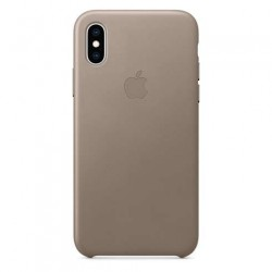 Apple iPhone XS Leather Case - Taupe MRWL2ZM/A